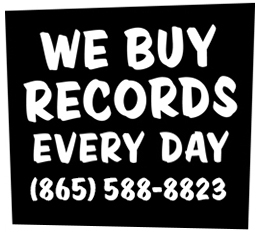 we buy sell and trade vinyl records every day at wild honey call 865 588 8823