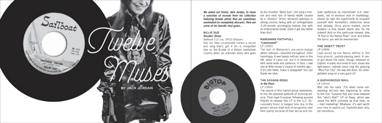 Wild Honey Records ZINE article - Twelve Muses Part 1